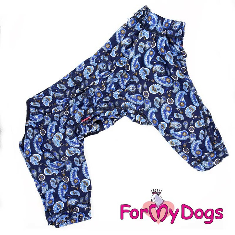 "Duster ""Navy Blue Flowers"" Hane ""For My Dogs"" Modell Terrier LAGERVARA Storlek: A0"