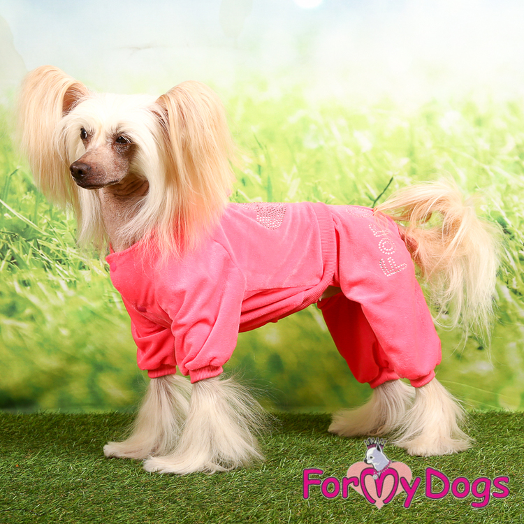 "Mysdress pyjamas overall ""Rosa Strass"" UNISEX ""For My Dogs"""