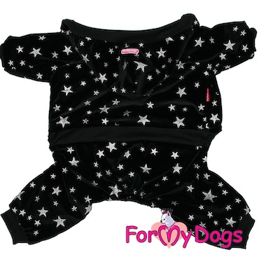 "Varm Mysdress pyjamas overall ""Svart Stjärna"" UNISEX ""For My Dogs"""