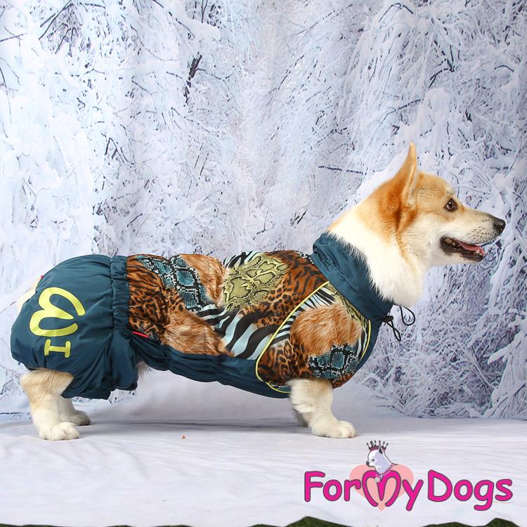 "Vinteroverall ""Blå wild pattern"" Hane ""For My Dogs"""