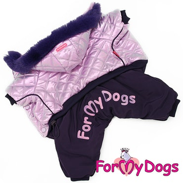 "Varm Vinteroverall ""Lila Metallic"" Tik ""For My Dogs"""