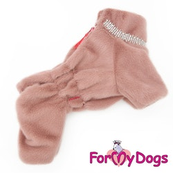 "Overall fluffig plysh ""Rosa strass"" Tik ""For My Dogs"""
