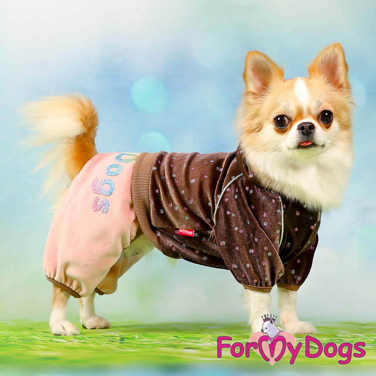 "Mysdress pyjamas overall ""Duo brun och rosa"" UNISEX ""For My Dogs"""
