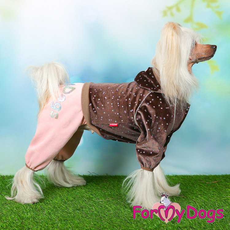 "Mysdress pyjamas overall ""Duo brun och rosa"" UNISEX ""For My Dogs"""