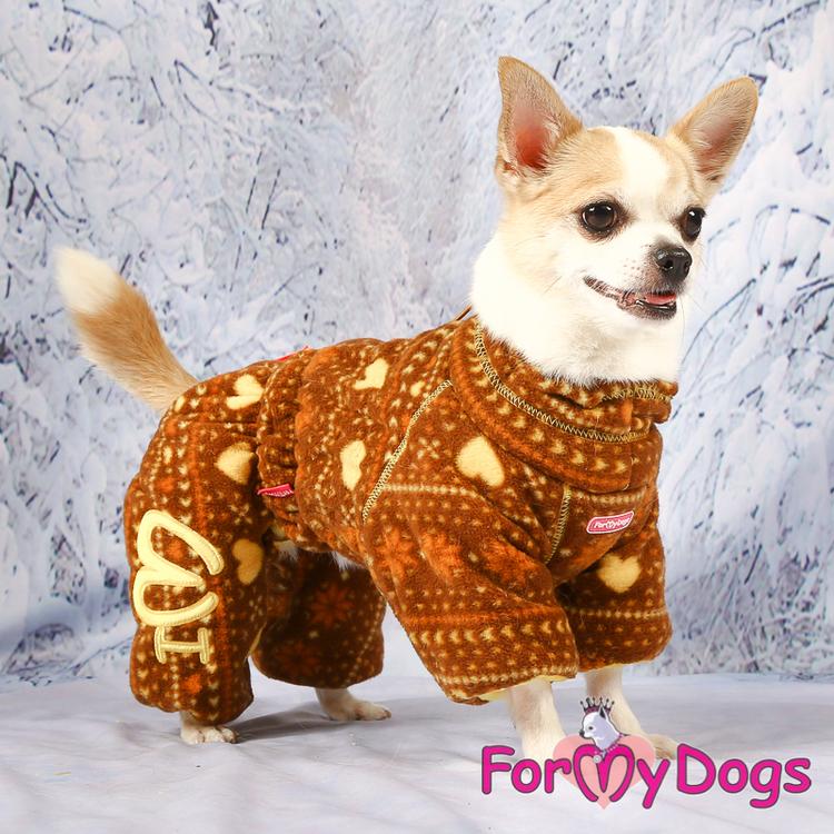 "Fleeceoverall ""Brun allmoge"" Hane ""For My Dogs"""