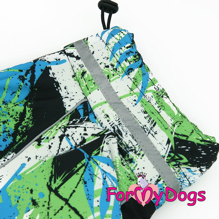 "Varm Vinteroverall ""Grön mönstrad"" Hane ""For My Dogs"""