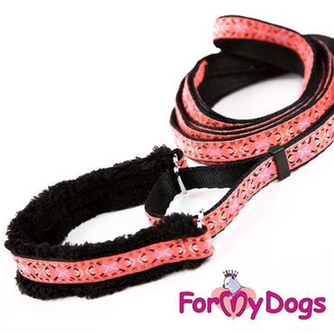 "Collar & Leash, Halsband & Koppel i ett ""Rosa"" Unisex ""For My Dogs"""