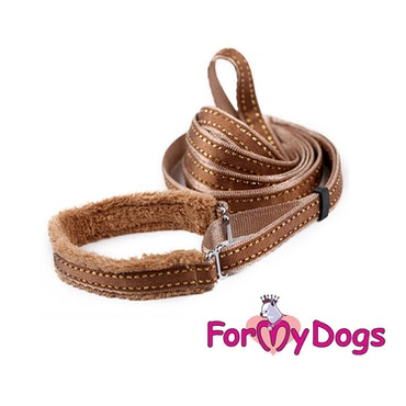 "Collar & Leash, Halsband & Koppel i ett ""Koppar Beige"" Unisex ""For My Dogs"""