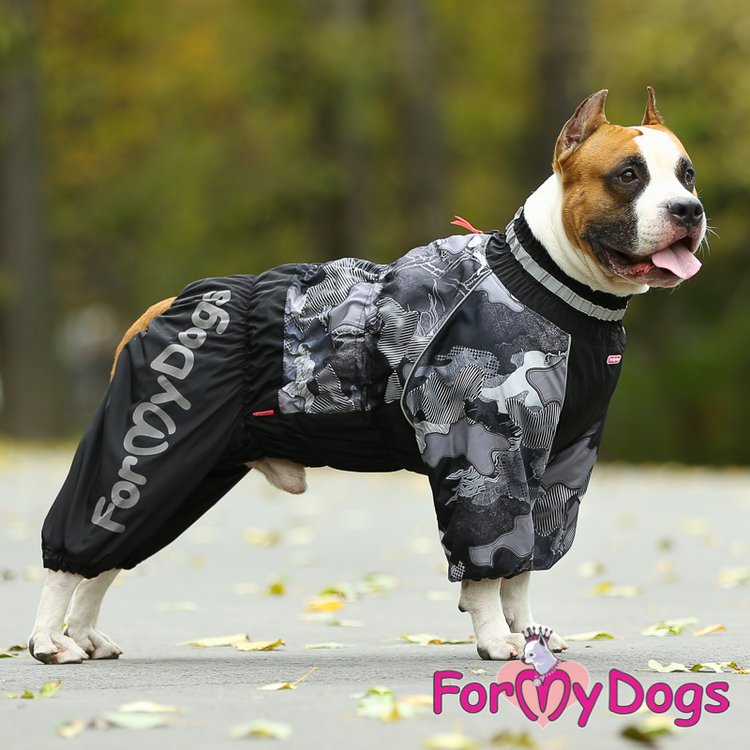 "Vinteroverall ""Svart Camo"" Hane ""For My Dogs"""