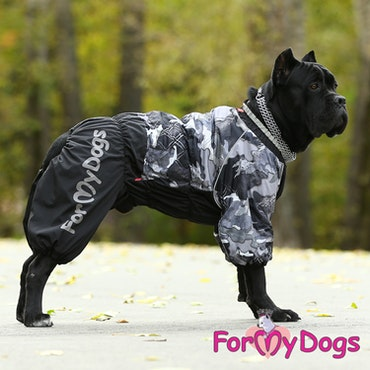 "Vinteroverall ""Svart Camo"" Hane ""For My Dogs"""