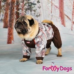 "Varm Vinteroverall ""Brun Fåglar"" Hane "" For My Dogs"""