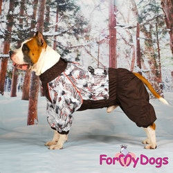 "Varm Vinteroverall ""Brun Fågel"" Hane "" For My Dogs"""