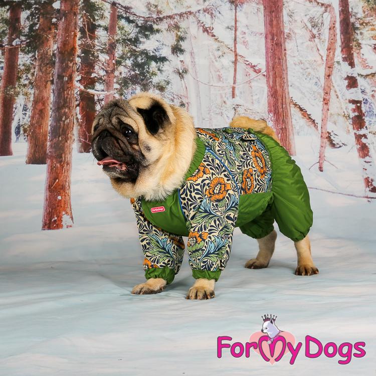 "Varm Vinteroverall ""Grön Jungel"" Hane "" For My Dogs"""