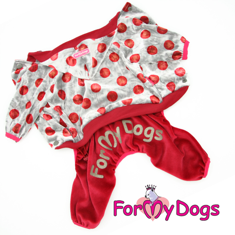 "Suit Mysdress Pyjamas overall ""Prickig"" Unisex ""For My Dogs"""