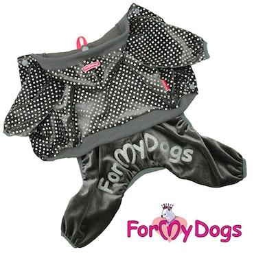 "Suit Mysdress Pyjamas overall ""Grå Prickar"" Unisex ""For My Dogs"""