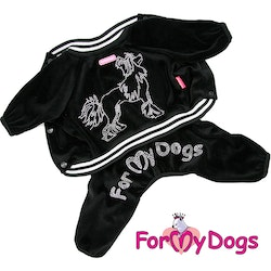 """Suit Mysdress Pyjamas overall """"Sparkling Chinese Crested Dog"""" Unisex """"For My Dogs"""""""