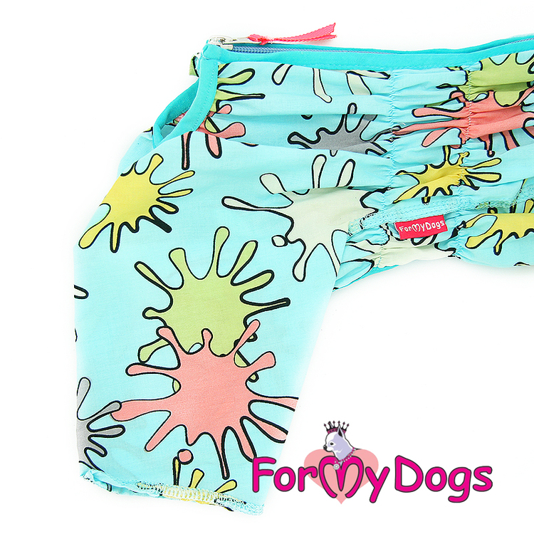 """Duster tunn skyddsoverall """"Turkos"""" Hane """"For My Dogs"""""""