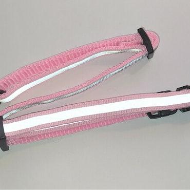 Halsband Valp - Liten ras - Reflex - Ljusrosa