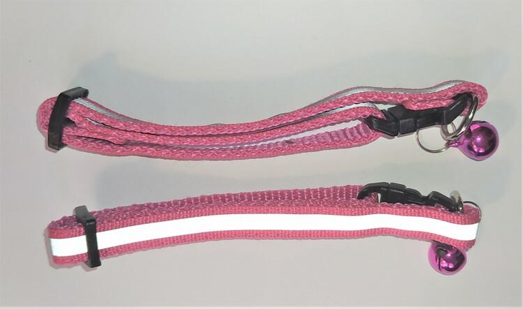 Halsband Valp - Liten ras - Reflex - Mörkrosa