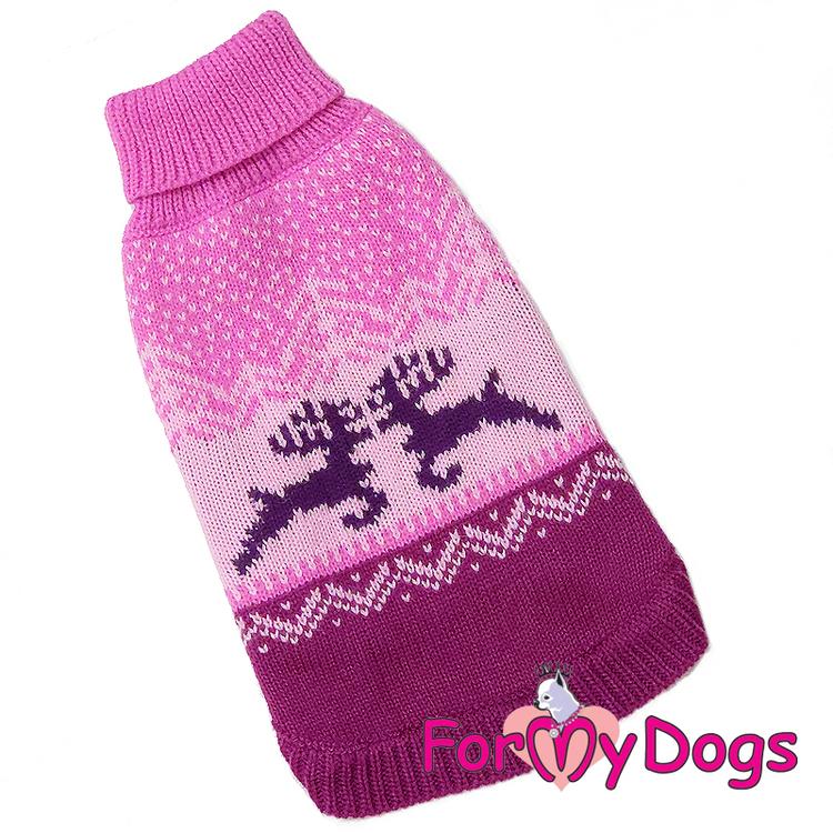 "Stickad Tröja ""Pink Reindeer"" unisex ""For My Dogs"""