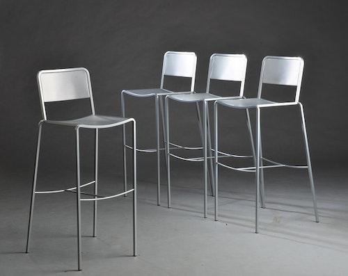 8 x Barhocker, Zeus Ginger Aluminium - Maurizio Peregalli