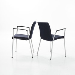 12 x Konferenzstuhl, Akaba Gorka - Dunkelblau / Grau