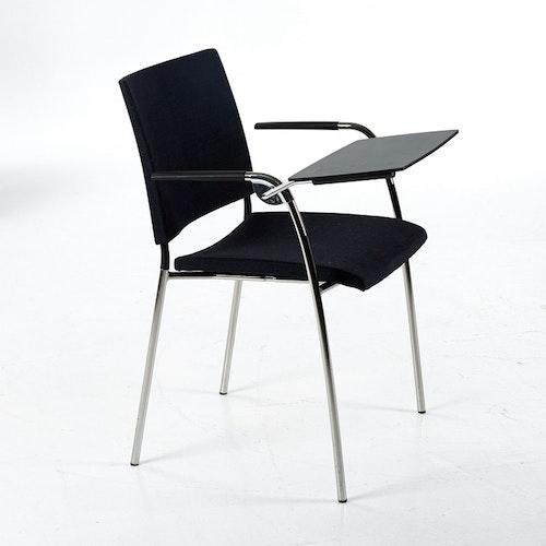 6 x Hörstühle, Lammhult Spira mit Schreibblock - Foersom & Hiort-Lorenzen