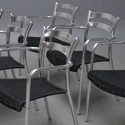 8 x Gartenstühle, Amat 3 Biarritz Aluminium - Samsó