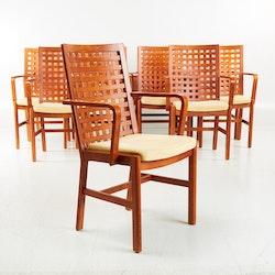 6 x Konferenzstühle, Kvist Industries - Ledersitz