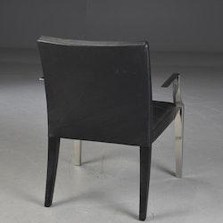 Sessel, Driade Monseigneur Schwarzes Leder - Philippe Starck