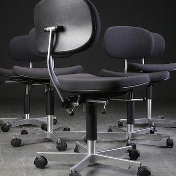 4 x Bürostühle, Fritz Hansen Kevi - Jörgen Rasmussen