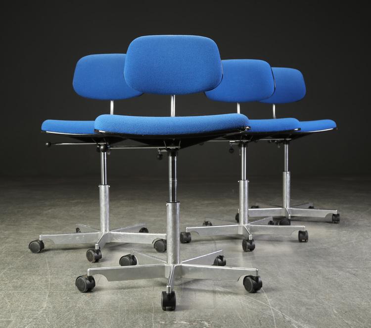 4 x Bürostühle, Fritz Hansen Kevi - Jørgen Rasmussen