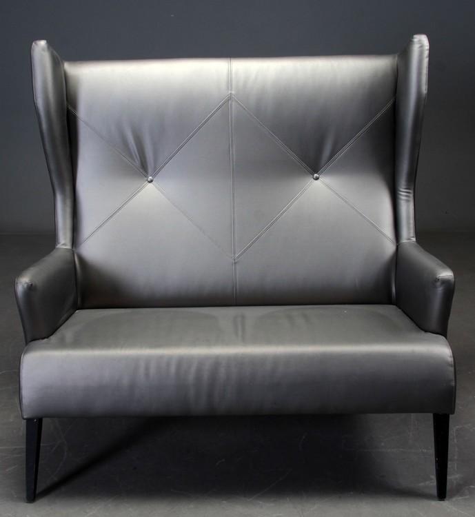 Sofa, Induflex Jack OP3 - Hohe Rückenlehne aus PU-Leder
