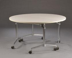 Faltbarer runder Konferenztisch auf Rollen, Kusch & Co Roll 'n' meet