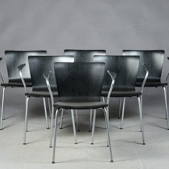 6 x Konferenzstühle, Fritz Hansen Vico Duo