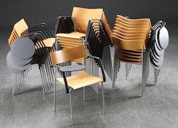 6 x Hörstühlen, Lammhult Campus Klappschreibblock - Hiort-Lorenzen