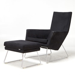 Lounge Sessel mit Ottoman, Label Don - Van den Berg