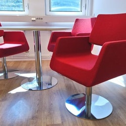 Lounge, Materia und SA - 3 Sessel + Tisch - Loungemöbel