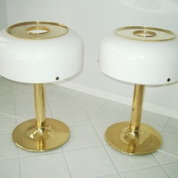 Ein Paar Tischlampen, Ateljé Lyktan Knubbling Messing - Anders Pehrson
