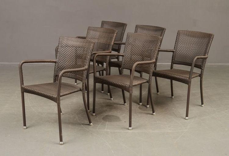6 x Gartenstühle, Cane-Line - Gartenmöbel