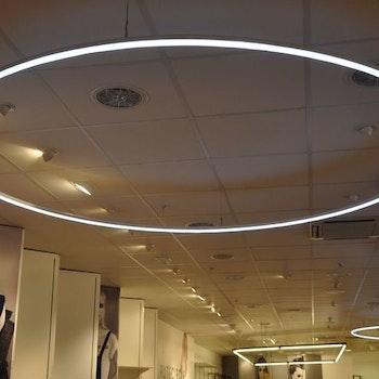 Runde LED-Hängeleuchten, 250 cm
