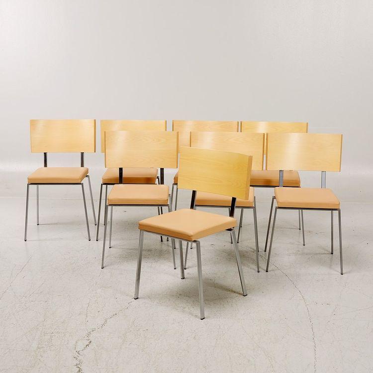 8 x Konferenzstühle / Esszimmerstühle, Karl Andersson & Söner Trippo - Ulla Christiansson