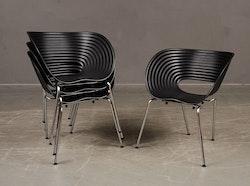 7 x Esszimmerstühle / Konferenzstühle, Vitra Tom Vac