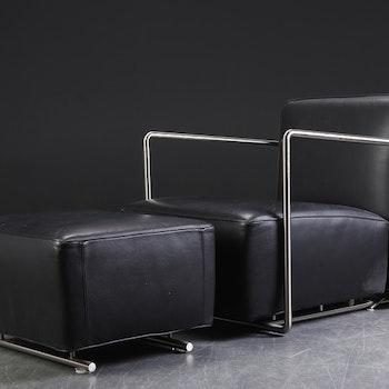 Sessel, Flexform Italy A.B.C mit ottomane - Design Antonio Citterio