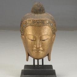 Große Buddha Maske aus Thailand auf Ständer - 93 cm hoch