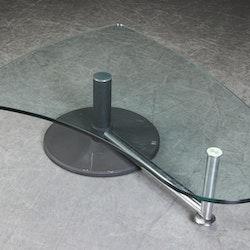 Couchtisch mit Glastischplatte, Rolf Benz - 157 cm