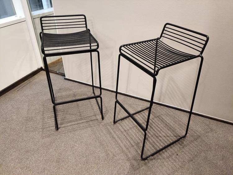 9 x Barhocker, HAY Hee - Sitzhöhe 75 cm