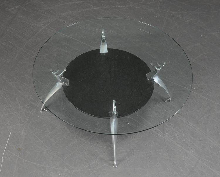 Couchtisch mit Glas tisch - Ø 99 cm