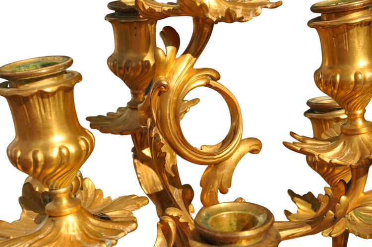 Bronzekandelaber von Ferdinand Barbedienne - Signiert
