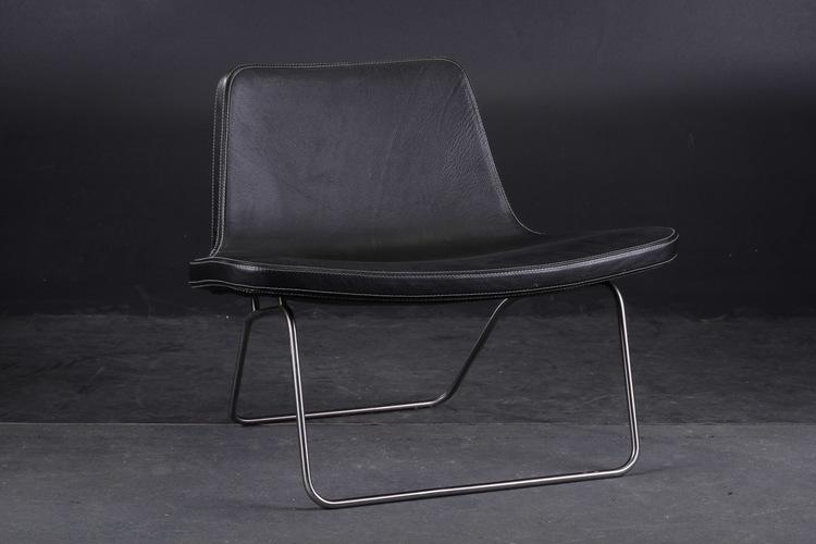 Sessel, HAY Ray Lounge Chair Leder - Jakob Wagner